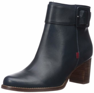 Marc Joseph New York Women's Genuine Leather Luxury Ankle Boot with Buckle Detail