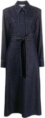 Stella McCartney Riley draped belted denim dress