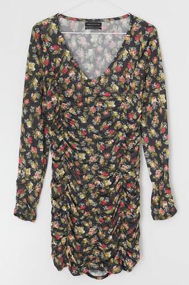 Urban Outfitters Dalton Ruched Mesh Mini Dress