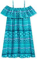 Epic Threads Geo-Print Wear Me 3 Ways Cotton Peasant Dress, Big Girls (7-16)