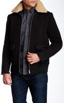 Slate & Stone Faux Fur Spread Collar Coat
