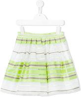 Il Gufo striped A-line skirt