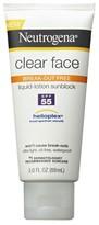 Neutrogena Clear Face Liquid Lotion Sunscreen Broad Spectrum SPF 55 - 3 Fl Oz