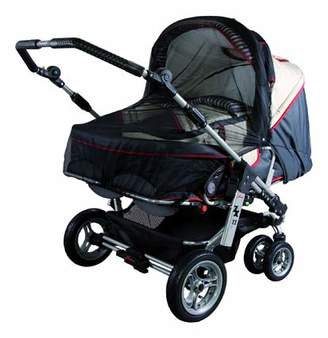 Sunnybaby 10363 Insect Net for Twin Pushchair - Black