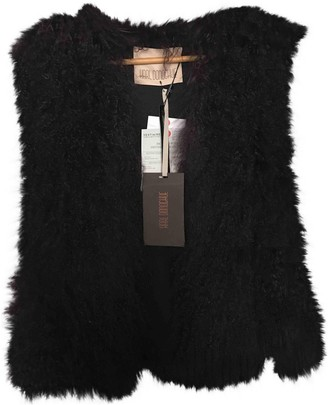 Karl Donoghue Purple Mongolian Lamb Jacket for Women