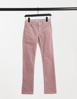 JDY skinny cord trouser in mauve