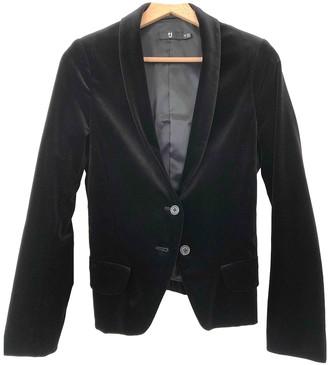 Uniqlo Black Velvet Jacket for Women