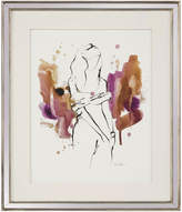 John-Richard Collection John Richard Lady In Violet IV by Kian Denson (Framed)