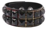 Red Snakeskin Black Pyramid Stud Wristband