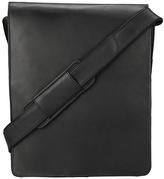 Visconti Black Oiled Leather Messenger Bag