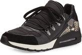 Ash Malcom Snake-Print Sneaker, Black/Stone