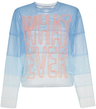 Viktor & Rolf Whatever panelled tulle top