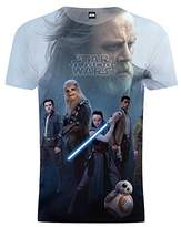 Star Wars Cup Of Tees Mens Last Jedi Rey Skywalker Heroes Graphic T-Shirt