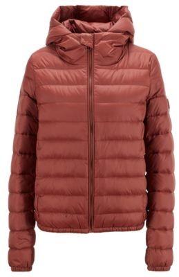 HUGO BOSS Hooded down jacket in water-repellent fabric