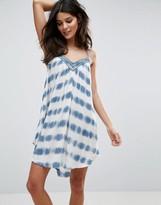 Amuse Society Tie Dye Print Mini Beach Dress