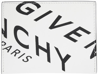 Givenchy White and Black Logo 3CC Card Holder