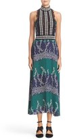 Yigal Azrouel Women's Lace Trim Ivy & Paisley Print Maxi Dress