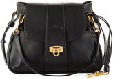 Chloé Pebbled Flap Crossbody Bag, Black