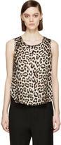 Rag & Bone Beige Leopard Silk Top