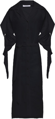 Chalayan Draped Cotton-poplin Midi Shirt Dress
