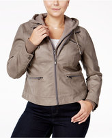 American Rag Trendy Plus Size Layered-Look Jacket, Only at Macy's