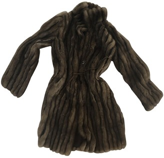 Valentino Brown Fur Coat for Women