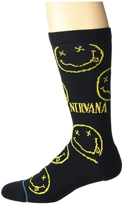 Stance Nirvana Face (Black) Crew Cut Socks Shoes