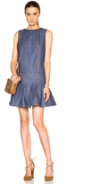 Suno Denim Pleated Dress
