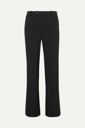 Joseph Tropez Crepe Wide-leg Pants - Black