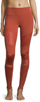 Alo Yoga Moto Full-Length Sport Leggings, Sunbaked Glossy