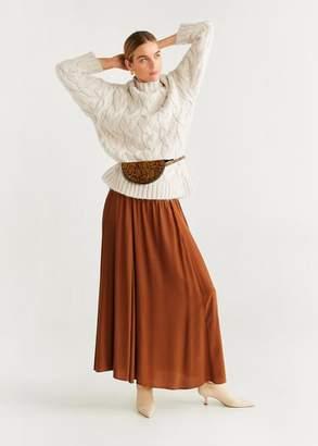 MANGO Knitted braided sweater