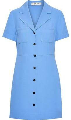 Diane von Furstenberg Crepe Mini Shirt Dress