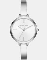 Michael Kors Jaryn Silver-Tone Analogue Watch