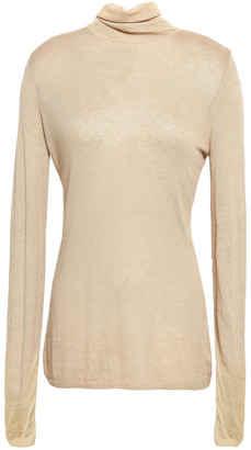 Zimmermann Maples Polo Underpinning Knitted Turtleneck Top