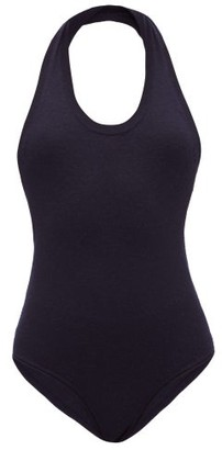Extreme Cashmere - No.137 Swim Halterneck Stretch-cashmere Bodysuit - Womens - Navy