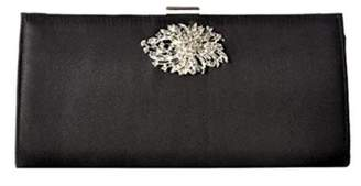 Adrianna Papell Black Stacee Clutch