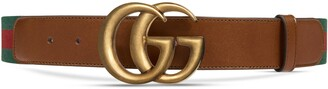 Gucci Web belt with Double G buckle
