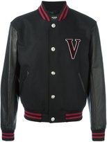 Versus logo patch varsity style jacket