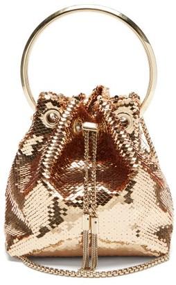 Jimmy Choo Bonbon Sequinned Clutch Bag - Pink Gold