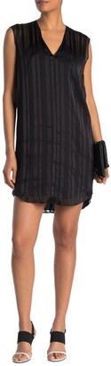 Rachel Roy June Tonal Stripe Curve Hem Dress