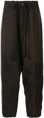 UMA WANG Drop-Crotch Trousers