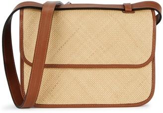 Hunting Season The Crossbody large leather and raffia bag