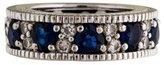 Judith Ripka Sapphire Heart & Diamond Ring