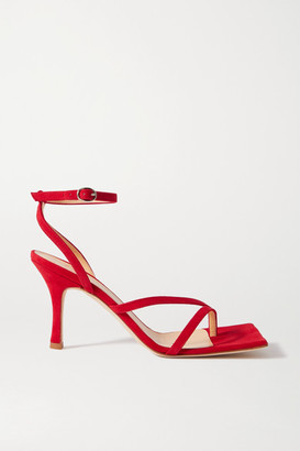 A.W.A.K.E. Mode Delta High Suede Sandals - Red
