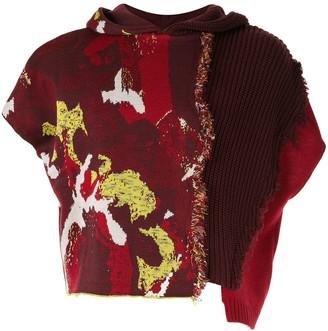 Necessity Sense Rik patchwork hooded vest
