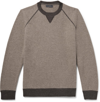 Thom Sweeney - Melange Wool and Cashmere-Blend Sweater - Men - Brown