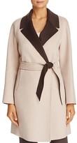 Armani Collezioni Contrast-Color Wool & Cashmere Coat
