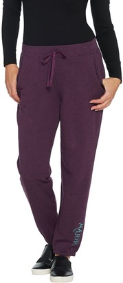Logo by Lori Goldstein LOGO Lounge by Lori Goldstein Cotton French Terry Jogger w/ Embroidery