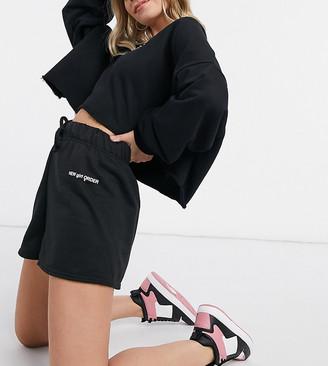 New Girl Order Petite set high waisted sweat shorts