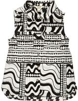 River Island Mini girls black and white print shirt
